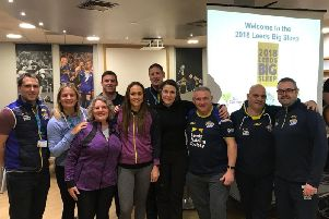 Members of the Leeds Rhinos Community Foundation get involved.
