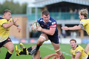 Ollie Stedman playing for Doncaster Knights in 2015 (Picture: Scott Merrylees)