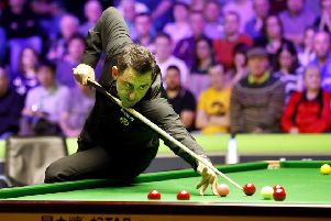 Ronnie O'Sullivan on his way to winning his second round match against Ken Doherty.