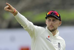 LEADING THE WAY: England Test captain Joe Root. Picture: AP/Eranga Jayawardena)