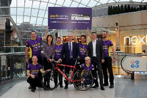 UPLIFTING OCCASION: Leeds Cares is announced as official fundraising partner for the UCI Road World Championships at the Trinity Leeds. PIC: Simon Hulme