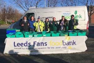 Leeds Fans Foodbank volunteers and project workers.