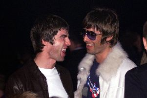 Happier times: Noel and Liam