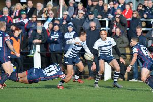 Recent action from Yorkshire Carnegie v Doncaster Knights. PIC: Bruce Rollinson