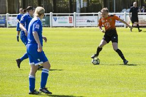 Annabelle Cass on the ball for Brighouse Town. PIC: Jim Fitton