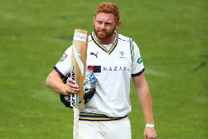 Staying put: Jonny Bairstow has pledged his future to Yorkshire by signing a three-year contract, ending speculation that he would leave the county. (Picture: Jordan Mansfield/Getty Images)