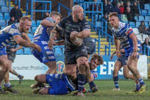 John Davies showcased his importance to Featherstone with an influential display. PIC: Simon Hall.
