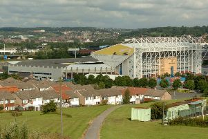 Leeds United's Elland Road Stadium.
