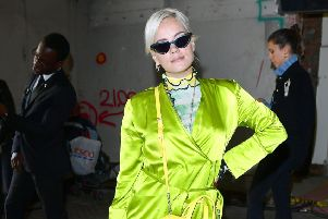 Lily Allen wore it first: Lime punch look at the Fashion East Fashion Week SS19 show. Ian West/PA Wire.