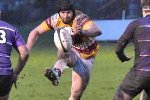 Prop Bevan Rodd in action for Fylde