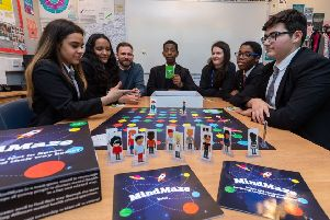 The MindMaze session at Bishop Young C of E Academy in Leeds.