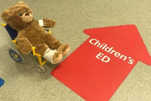 Northumbria Healthcare's Bobby the Bear in the Chair.