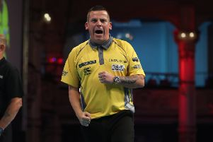 Dave Chisnall. Picture: PDC/Lawrence Lustig.