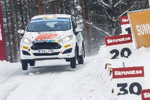 Snowy Sweden is what awaits Mansfield co-driver Phil Hall tomorrow. (PHOTO BY: M-Sport/JWRC)