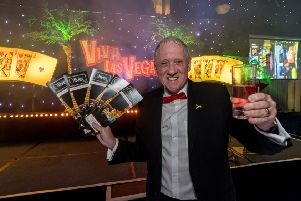 Date: 12th March 2018.'Picture James Hardisty.'10th Oliver Awards, held at Centenary Pavilion, Elland Road, Leeds.'Pictured Host for the evning Harry Gration.