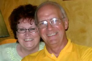 Ken Myers, with his wife Val.  Picture: SWNS