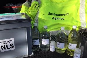 Some of the Environment Agency samples taken in and around Orrell Water Park
