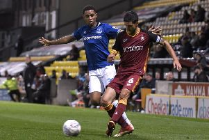 KEEP IT UP: Bradford City's Anthony O'Connor. Picture: George Wood/Getty Images.
