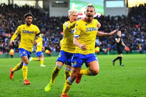 BIG GOAL: Kalvin Phillips celebrates his late leveller at Middlesbrough.