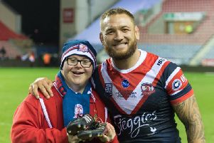 Fan Connah Campbell received Jared Waerea-Hargreaves's boots after the World Club Challenge