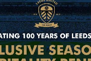 Leeds United's badge for next season, their centenary year.