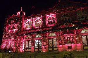 The Royal Hall in Harrogate, Credit  Stainton Lighting and Trustees of the Royal Hall Restoration Trust and the Harrogate and District Improvement Trust