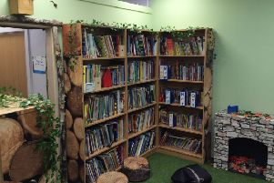 The new look woodland-themed library at Hillcrest School in Cramlington.