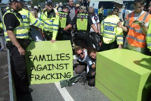 A previous Reclaim the Power anti-fracking protest.