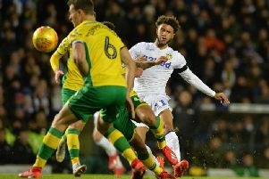 BIG CHANCE: For Leeds United's Tyler Roberts.