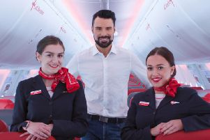 TV presenter Rylan Clark-Neal will be on board the party plane