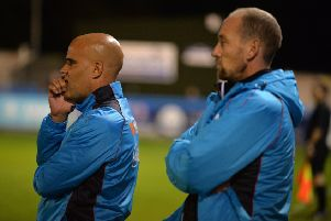 Guiseley joint-managersMarcus Bignot and Russ O'Neill.