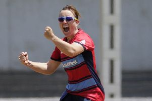 England's Danielle Hazell playing in 2018, is taking charge of Yorkshire Diamonds in 2019. (AP Photo/Rafiq Maqbool)