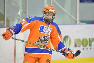 ON THE UP: Sheffield Steelers' Kieran Brown had made steps forwards in recent weeks, says coach Tom Barrasso. Picture: Dean Woolley.