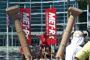 The Hercules Hold in action at Worlds Strongest Man
