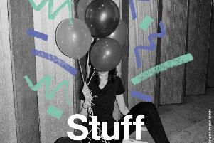 A poster for the Alnwick Playhouse Youth Teatre's latest production, Stuff, as part of the National Theatre Connections project.