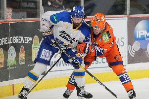 Jonas Westerling on the boards against Fife. Pic by Hayley Roberts