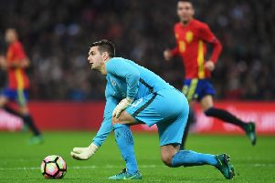 LONDON, ENGLAND - NOVEMBER 15:  Tom Heaton of England in action during the international friendly match between England and Spain at Wembley Stadium on November 15, 2016 in London, England.  (Photo by Shaun Botterill/Getty Images)
