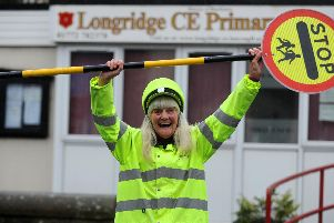 Irene Reid is celebrating half a century as Longridge's Berry Lane lollipop road crossing  lady