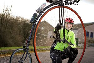 Richard Thoday who is planning a record-breaking attempt to ride from Lands End to John O'Groats on a penny farthing.