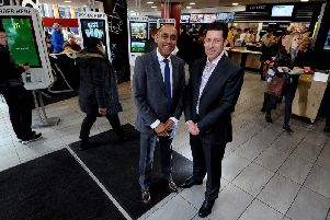 McDonald's Briggate franchisee Pritpal Singh with CEO Paul Pomroy