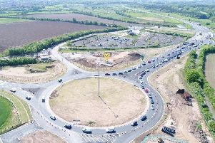 The new link road will connect Great Yorkshire way with Hurst Lane (Picture: Universal Drones Ltd)