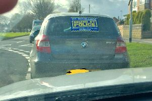 West Yorkshire Police seized the car in Middleton,south Leeds.