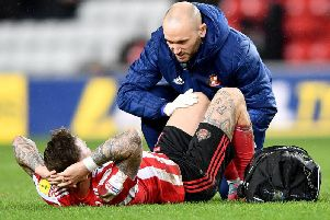 Sunderland forward Chris Maguire was initially ruled out for between six to eight weeks.