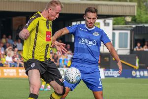 Harrogate Town's Mark Beck.