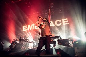 Embrace in concert at O2 Academy Leed. Picture: Anthony Longstaff