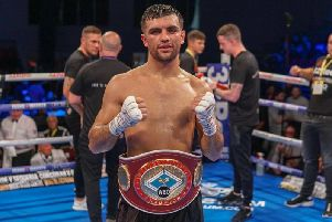Jack Catteralls last fight saw him get the better of domestic rival Ohara Davies. Picture: Chris Roberts/Queensberry Promotions