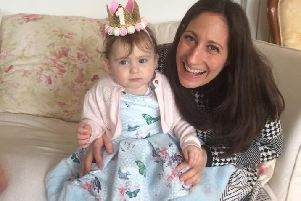 Faye with her daughter Sofia.