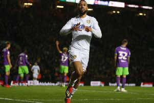 Leeds United striker Kemar Roofe.