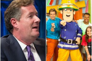 Piers Morgan and Fireman Sam. (Piers Morgan credit: iDominick)