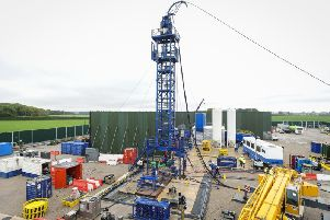 A fracking site in Lancashire